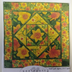 """Daffodil Quilt"" by Nancy Mahoney of Northcott Fabrics – 29-1/4″x29-1/4″ Quilt Kit"