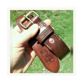 Artisan Leather Belt// Veg-tanned Leather// Made to Order//Personalized//Dark Brown