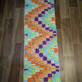 Quilted Bargello Table Runner