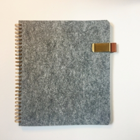 JW Magazine Folder with pen holder, handmade felt folder for tracts and magazines