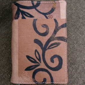 NWT Fabric Bible Cover with Quilted Lining – Brown/Black
