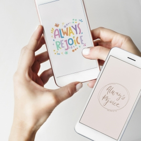 2 Always Rejoice phone wallpapers for her and him | JW convention | Scripture Philippians 4:4