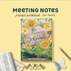 Meeting Notes Notebook | Feminine | Best Life Ever – Pioneer Gifts – JW Gifts – Meeting Workbook