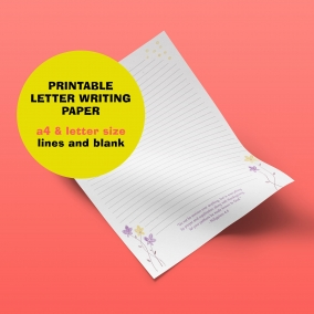 Letter Writing Paper featuring bible scripture from Philippians 4:6