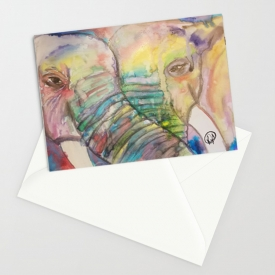 2 Become 1 Greeting Card 5″x6.5″Watercolor Artwork Print by Kikajo Ink (Copy)