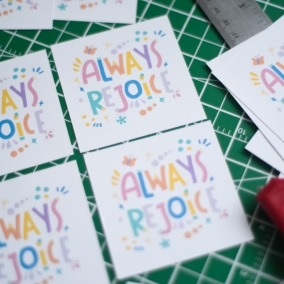 Always Rejoice Printable Paper Sheet for stickers, tags