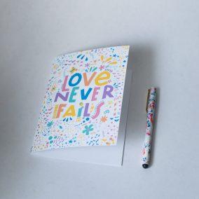 love never fails printable