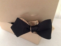 Reversible black and gold bow tie diamond tip freestyle or pre tied hook
