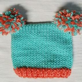 Double Pompom Hat
