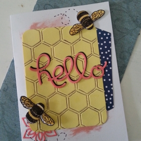 Hello Busy Bee Greeting Card