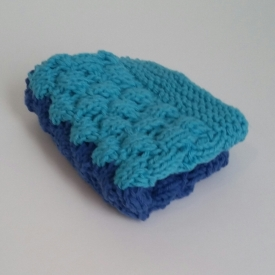 100% Cotton Knit Face/Dish Cloth in Ocean Blue