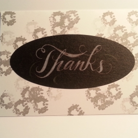 Masculine Thanks Greeting Card