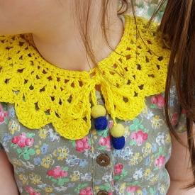 little girls crochet collar