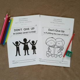 3-5 yo Convention & Assembly Notebooks