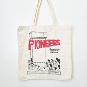 """JW Pioneer Tote Bag – """"Pioneers Announcing Jehovah's Kingdom"""" / Pioneer School Gift / SKE Gift / Service Bag"""