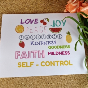 Fruitage of the spirit Card; Greeting Card for any occasion