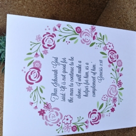Wedding Card; JW Greeting Cards
