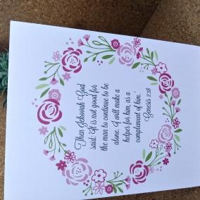 Wedding Card; JW Greeting Cards