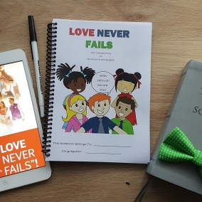 Love Never Fails Childrens Convention Notebook Instant PDF Download