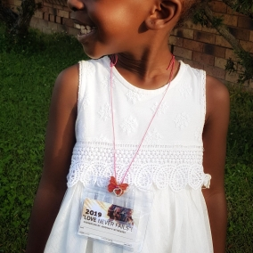 Convention Badge Holder & Necklace – Butterfly Pendant