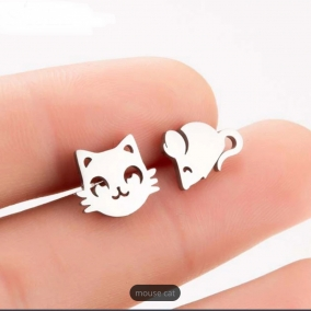 Cat and mouse studs