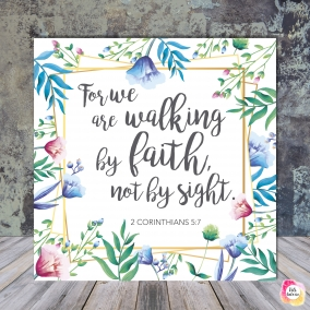 2 Corinthians 5:7 – Scripture quote digital printable