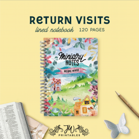 Return Visit Ministry Notes – Notebook (Feminine) | JW Gifts