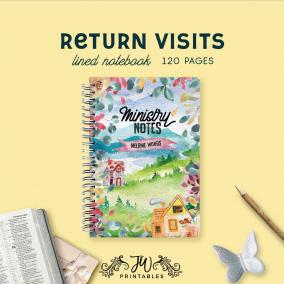 Return Visit Ministry Notes – Notebook (Feminine) | JW Gifts