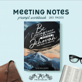 Meeting Notes Notebook | Masculine | Best Life Ever – Pioneer Gifts – JW Gifts – Meeting Workbook