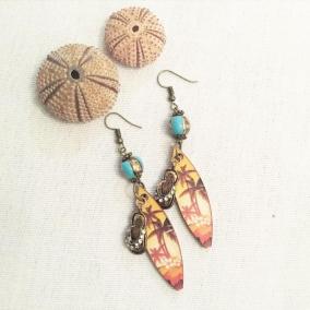 Beach earrings (flip flops)