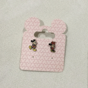 Mickey and Minnie studs