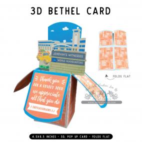 Bethel Tour Thanks | 3D Popup Cards