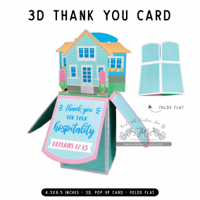 Hospitality Thanks | 3D Popup Cards