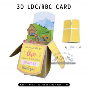 LDC/RBC | 3D Popup Cards