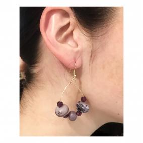 Lavender Teardrop Earrings