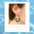 Emerald Green and Gold Hoop Earrings