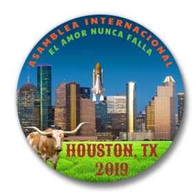 200 Houston JW International Convention Spanish Amor Nunca Falla Buttons – 1.25""