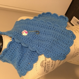 Clear Blue Scarf with Brooch