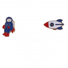 Set of pins Astronaut And Rocket