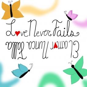 Love never fails English/Spanish