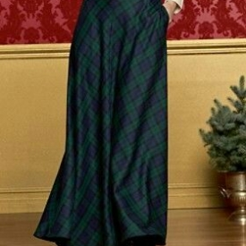 Tartan Green/Blue Maxi Skirt