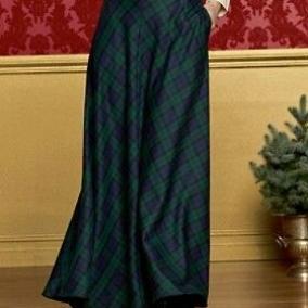 Tartan Green/Blue Maxi Skirt