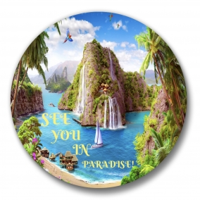 """150 See you in Paradise JW International Convention Love Never Fails Buttons – 1.25"""""""