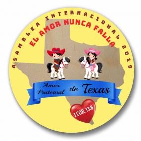 """450 Argentina & TX El Amor Nunca Falla Buttons – 1.25"""" (Copy)"""