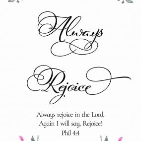 Always Rejoice 2020 Convention Print at home (Flower version)