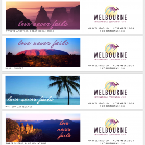 Love Never Fails BOOKMARKS for Melbourne International 2019 – Aussie Icons