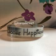 Aluminum Bracelet Encouraging Words