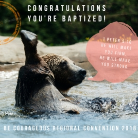 BAPTISM Bear_1 Peter 5:10_ 2018 RC_Digital Postcard_INSTANT DOWNLOAD.