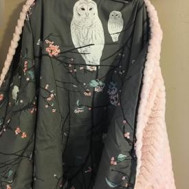 White Owl Crib Set