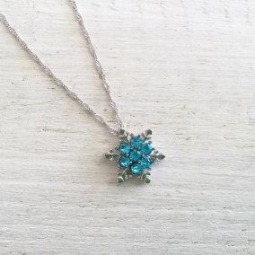 Turquoise Snowflake Necklace